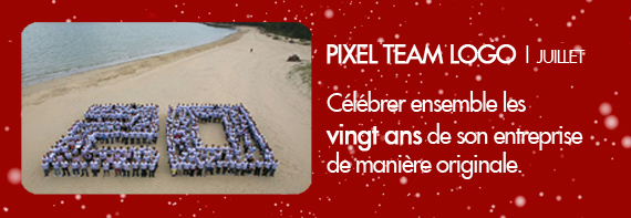 Pixel Team Logo 20ans