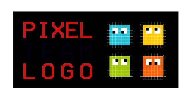 Team Building logo Logo Humain : Pixel Team Logo