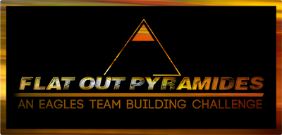 Team Building logo Flat Out Pyramides