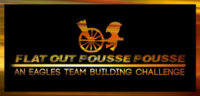 Team Building logo Flat Out Pousse Pousse