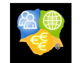 Team Building logo People, Planet, Profit